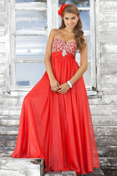 Gillingham Soft Strapless Open Back Prom Gown