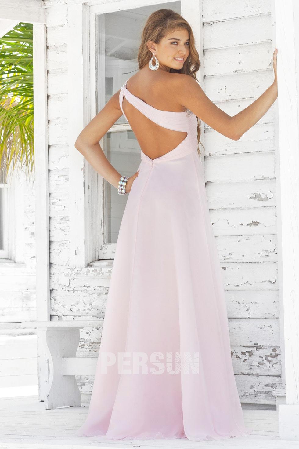 robe rose longue à dos nu