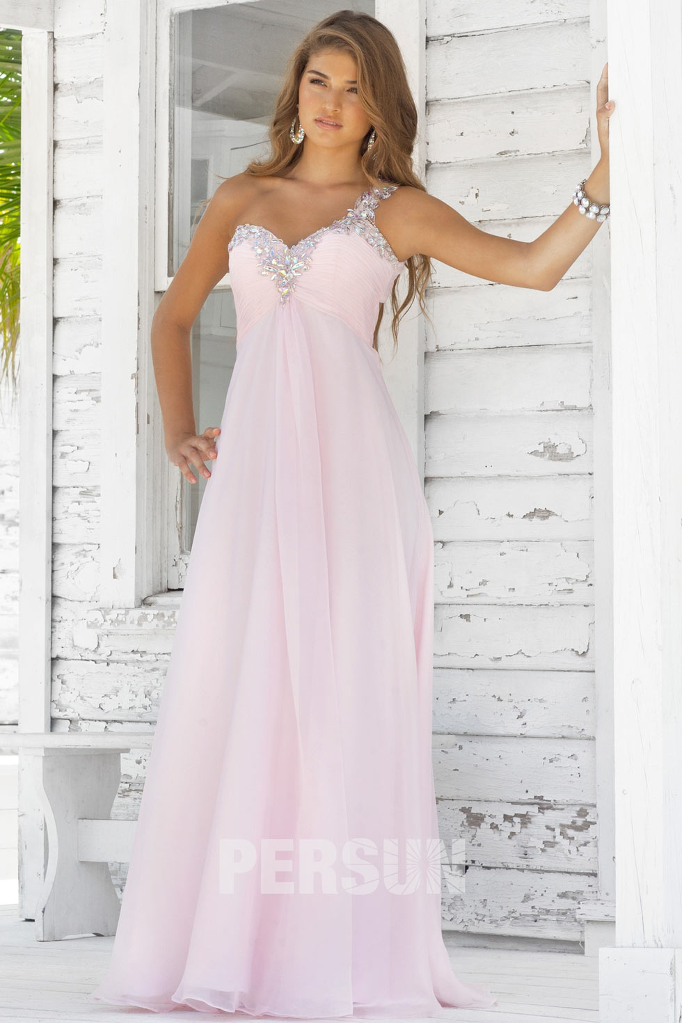 robe rose longue sol pas cher