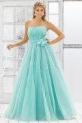 Grays Tulle High Waist Beaded Bow Ball Gown Evening Dress