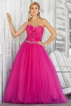Harrogate Fuchsia Strapless Appliques UK Prom Dress