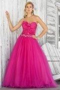 Harrogate Stunning Taffeta Strapless Appliques A line Prom Dress