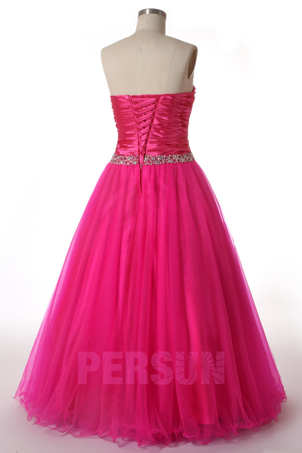 robe bustier rose fuchsia style princesse