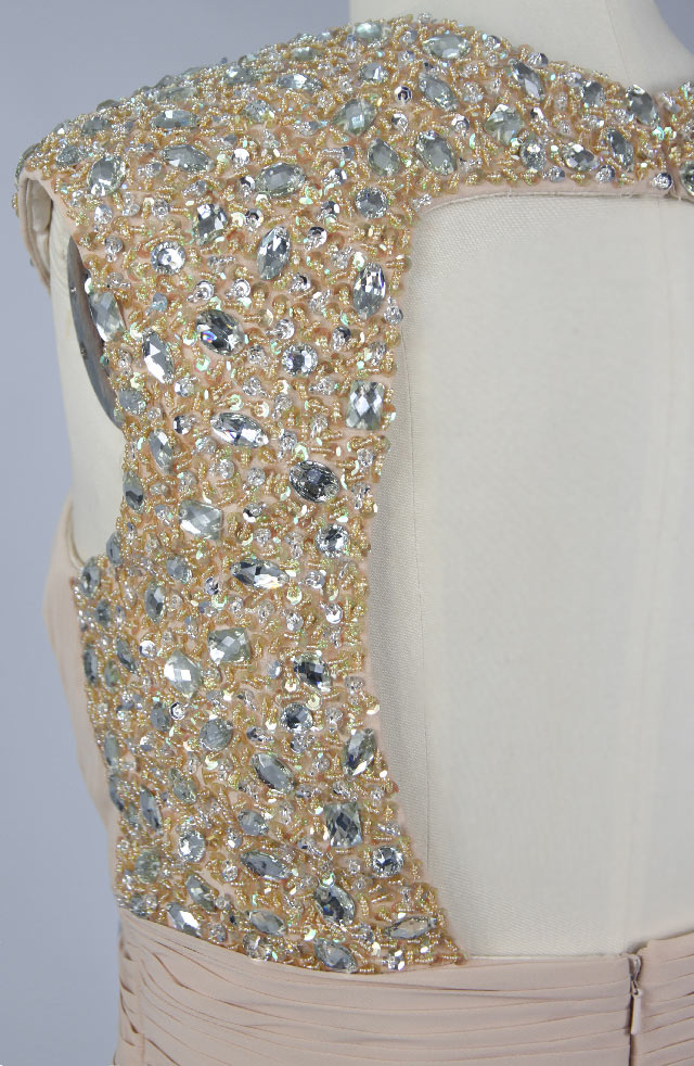champagne v neck short cocktail dress sequins
