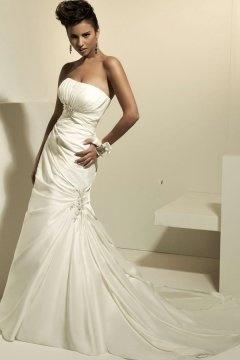Walton on the Naze New Strapless Beading Pleats Wedding Dress
