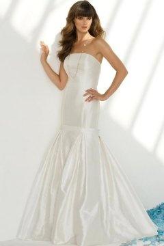 Warminster New Taffeta Mermaid Bows Edging Wedding Dress