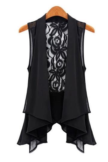 Persunmall.com Western Lace Chiffon Shirt