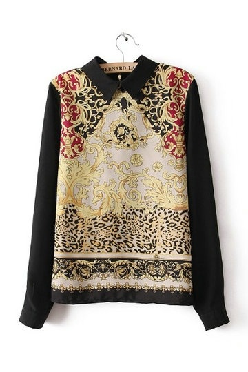 Retro Ethnic Style Totem Pattern Shirt