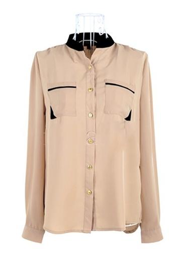 Fashion Long Sleeved Chiffon Shirt