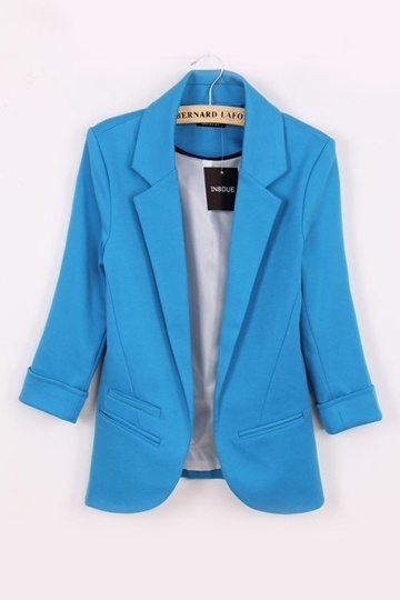 Candy-Color Boy Friend Blazer Without Button