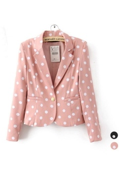 Polka Dots One Button Blazer