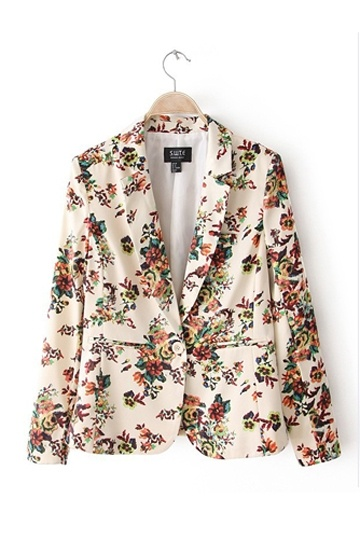 Vintage Blazer with Colorful Printing