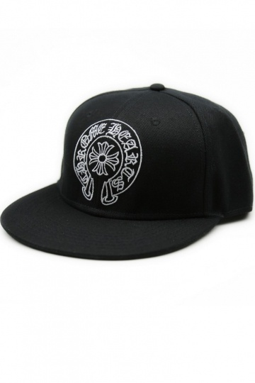Black and White Embroidered Baseball Cap