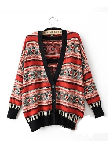 Ethnic Batwing Sleeves Cardigan