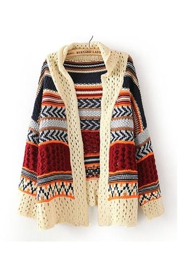 Ethnic Style Irregular Cardigan