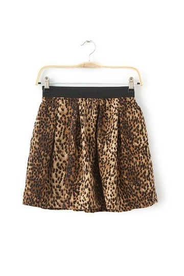 Stylish Leopard Mini Frilly Skirt