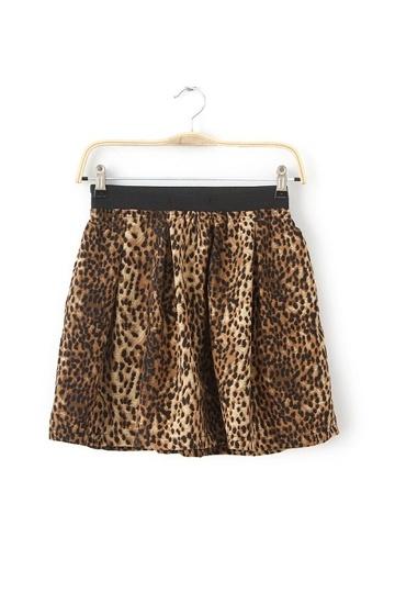 Stylish Leopard Mini Frilly Skirt
