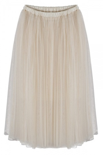 Must-have Full Midi Skirt in Mesh