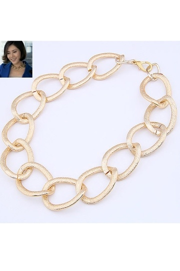 Golden Chain Bling Fancy Necklace
