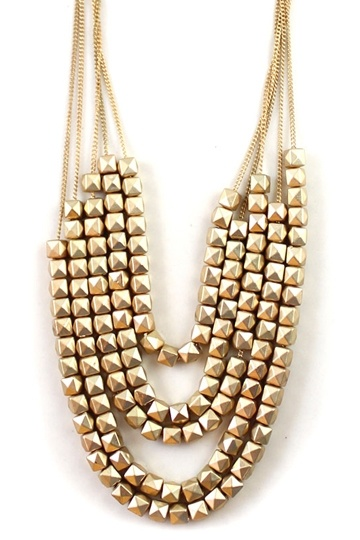 Golden Multi Layer Cleopatra Style Necklace