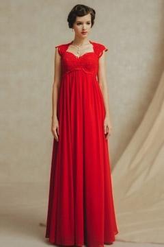 Langes kleid empire stil