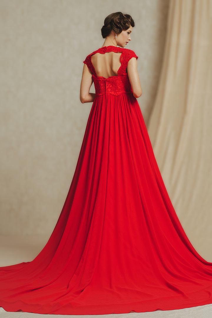 robe empire de soir e grossesse en coeur avec dentelle d licate sur haut. Black Bedroom Furniture Sets. Home Design Ideas