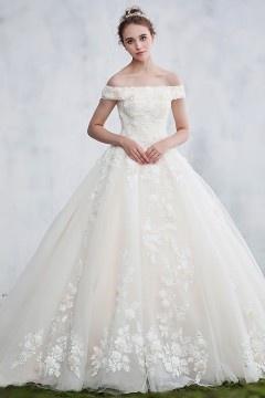 Robe de mariée élégante & romantique épaules dénudées