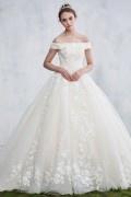 Elegantes romantische off Schulter Brautkleid aus Spitze