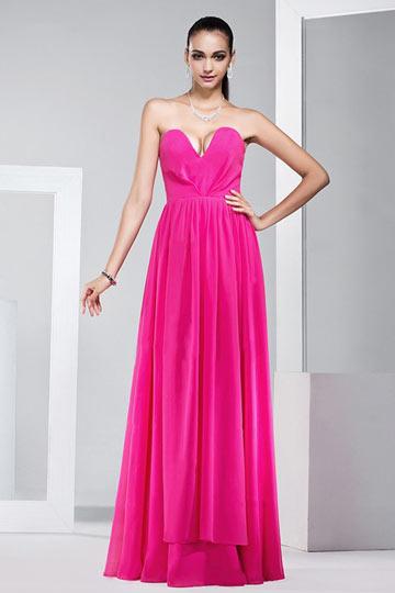 Sexy A-Linie Herz-Ausschnitt Bodenlanges Abendkleid aus Chiffon Persun
