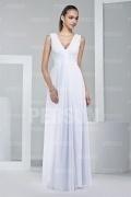 Sexy Straps Ruffle Floor Length Chiffon Formal Bridesmaid Dress