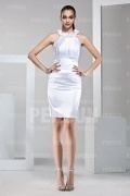Beautiful Ruffles Flower White Formal Dress