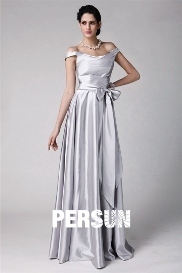 Dressesmall Elegant Sleeveless Sliver Floor Length Formal Bridesmaid Dress