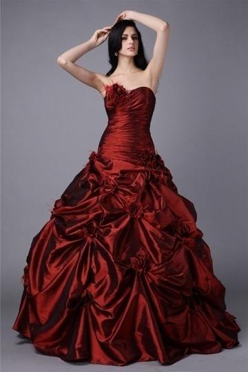 Luxus Herz-Ausschnitt Trägerloses Bodenlanges Ball gown Brautkleid/Abendkleid Persun