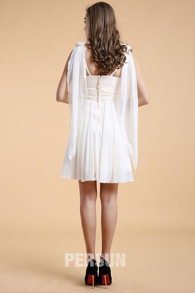 robe courte aux genoux avec bretelles pour mariage d 39 t