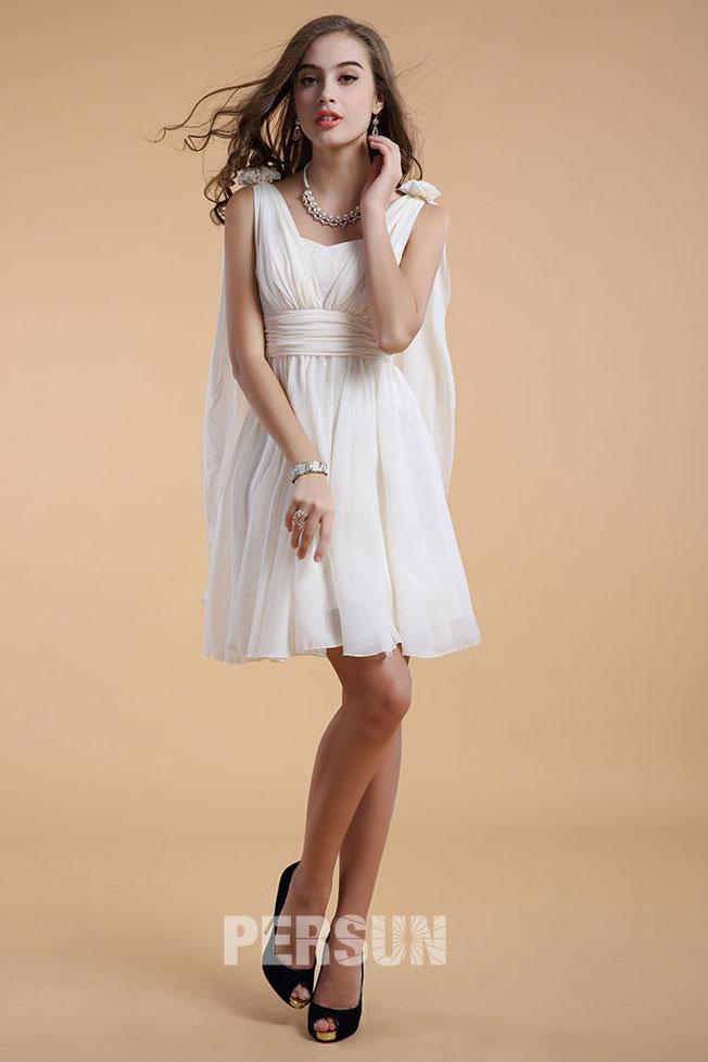 robe courte aux genoux avec bretelles pour mariage d 39 t. Black Bedroom Furniture Sets. Home Design Ideas