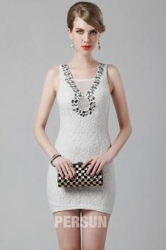 Petite robe soirée en dentelle