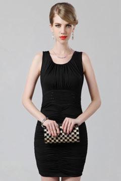 Mini robe noire pour cocktail et soirée