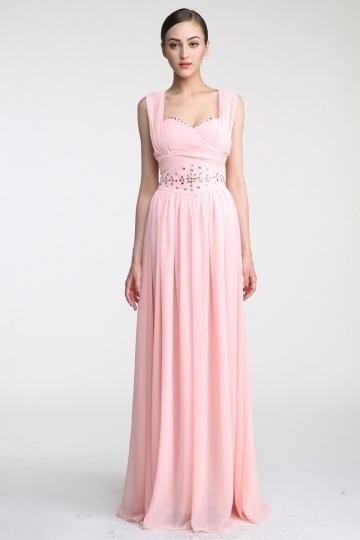 Dressesmall Persun Floor length A line Straps Chiffon Evening Dress