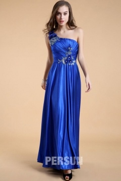 Washington Royal Blue One Shoulder Long UK Prom Gown