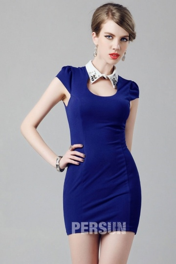 Dressesmall Short Cap sleeve Chiffon Cocktail Dress