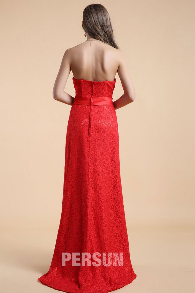 robe bustier rouge l gante longue avec des appliques. Black Bedroom Furniture Sets. Home Design Ideas