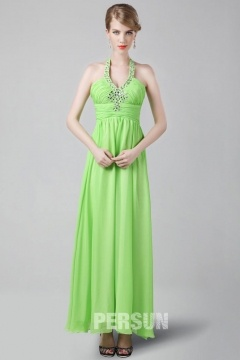 Wath upon Dearne Green Tone Fresh Halter UK Prom Gown