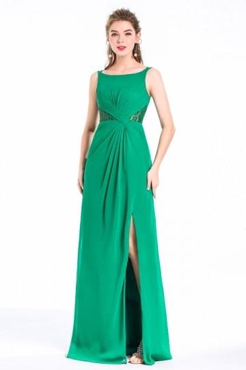 Grüne Spitze Brautjungfernkleider mit Träger Persun
