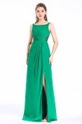 Elegant Jade Green Split Bridesmaid Dress with Cut Out Details in Lace