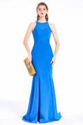 Azurblaues Meerjungfrauenkleid für Hochzeitsprozession