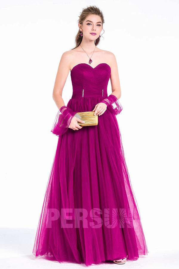 Robe de cérémonie princesse tulle fuchsia