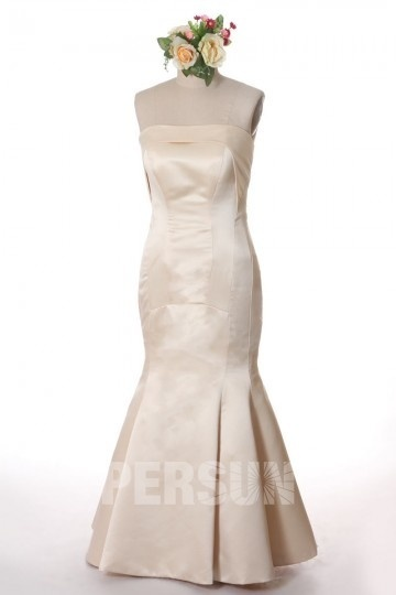 Dressesmall Strapless Mermaid Satin Celebrity Formal Dress