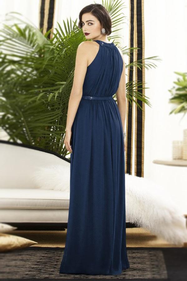 robe de soir e colonne col halter orn e de paillettes mode. Black Bedroom Furniture Sets. Home Design Ideas