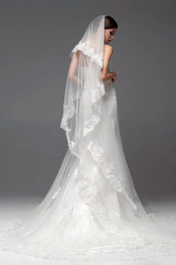 Knöchellanges Brautschleier