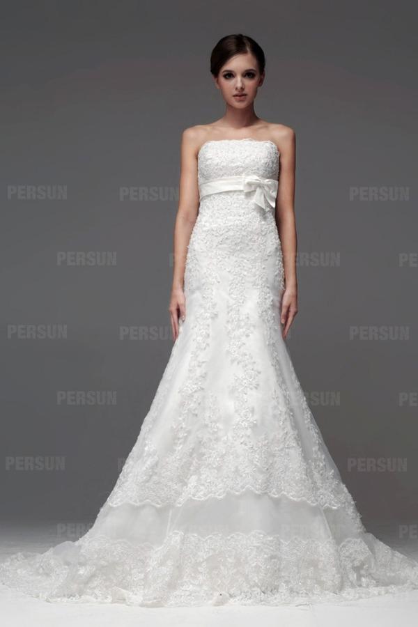 Brautkleid für rechteckige Figur/Silhoutte